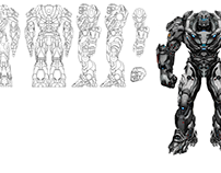 """Concept robot -Blueprint """"Seanbot"""""""