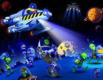 """Arts for """"Flyonoid"""" (2003 year)"""