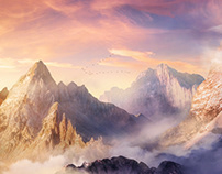 Mountains - Matte painting