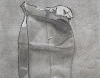 Drawing - Brown Paper Bag