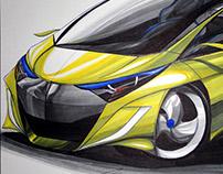 Study Sketch - Hyundai CityCar - Fluid Lines