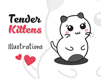 Tender Kittens - Character design and illustrations