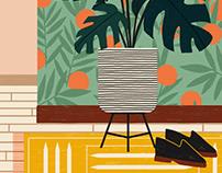 Plants & Wallpaper for Anthropologie