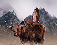 Bull Girl - Photoshop manipulation