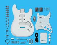 Strat guitar design