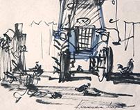 Watercolor/ Yard