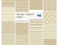 Burlap rustic seamless pattern