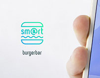Smart Burger Bar Logo Concept #2