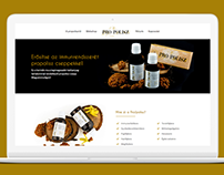 Propolisz termékek webdesign + build