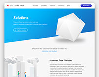 Treasure Data Solutions Landing Page