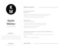 Kaelin Wilcher Resume