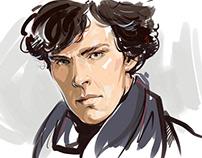 A quick sketch - Benedict Cumberbatch