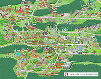 ODTU (METU) campus maps