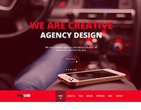 PixyWEB – One Page PSD Template