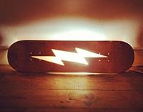 Skateboard Lamp