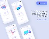 E-commerce onboarding screens - (Freebie)