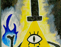 Bill Cipher Mini Canvas