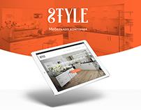 Furniture studio website template