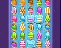 Ice Cream Match-3 Game Set