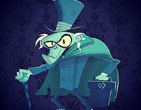 Hatbox Ghost Illustration