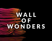 Wall of Wonders - motion design art installation
