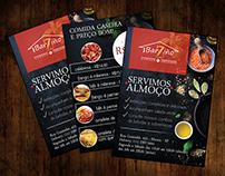 Barziño Carnes Grelhadas - Flyer e redes sociais
