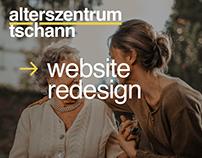 Alterszentrum Tschann Website Redesign