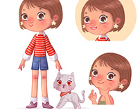 Character Design - Girl & Cat