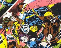 The X-Men (accordion zine)