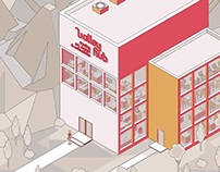 Isometric animation for ValleyHub
