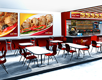 3d modeling restaurant kokoriko