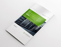 4xDL Double Gate Fold Brochure Mockup