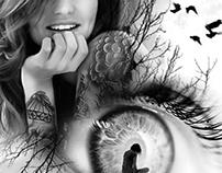 tattoo Design: Mujer y ojo