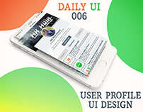 User Profile Design Daily UI-006