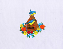 WELCOMING BIRDHOUSE EMBROIDERY DESIGN
