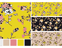 Pink/Yellow + Black Floral