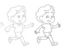 Apenas mais uma criança a correr