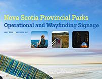 Nova Scotia Provincial Parks signage system