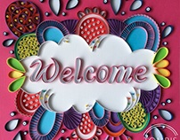 Quilled Lettering - Welcome
