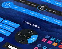 Cloudy Retina UI Web Kit
