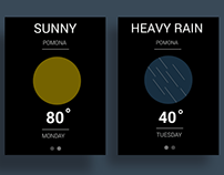 Minimalist approach to the weather app.