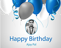 Happy Birthday Flyer - Ajaypal