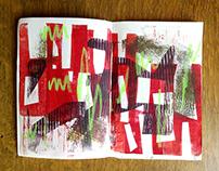 handprint in my sketchbook