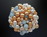 C4D Abstract Spheres - Cinema 4D Tutorial ⭐