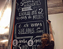 chalklettering // leve's - alimentação saudável