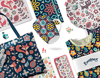 Seamless cute floral patterns