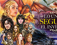 Game of thrones Illustration for 'Cine Premiere'