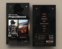 Bincred Mobile App Store UI