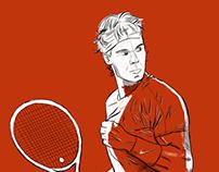 Rafa Nadal | Sketches & illustration