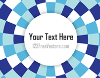 Free Circle Optical Illusion Vector for Your Text